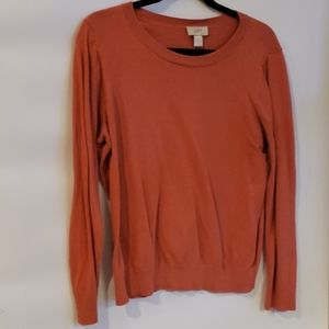 4/$25 Loft Rust Sweater L